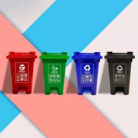 德宏【60升街道环卫垃圾桶】60L街道塑料桶厂家