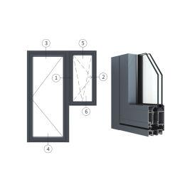 广东兴发铝材创高AL6524A|B系列门带窗