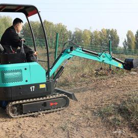 捷克小型挖掘机价钱 17型履带式带破碎锤迷你小挖机