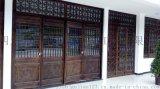 成都仿古门窗厂、实木雕花门窗、古镇庭院实木门窗