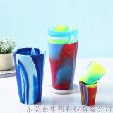 混色矽膠杯 可樂矽膠奶茶杯