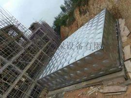 高明小区不锈钢供水箱焊接组合方形储水池屋顶水塔