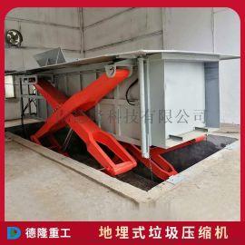 小型地埋式垃圾站压缩设备 水平直压式垃圾压缩机