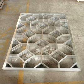 招牌门头雕花金属铝单板 圆形雕花白色铝单板款式