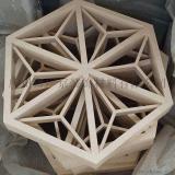 铝型材拼接三角形铝格栅造型铝天花吊顶