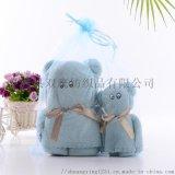 珊瑚絨毛巾/小熊珊瑚絨巾/珊瑚絨套巾/珊瑚絨子母巾
