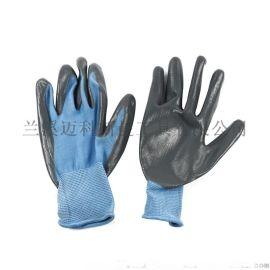 丁腈手套 13针涤纶丁腈起皱手套