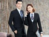 夏季西裝男女同款職業裝套裝修身商務教師白領工作服正裝西服男