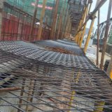 高層建築工人腳踏網 腳手架菱形鋼芭片