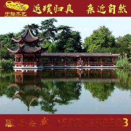 湖南防腐木园林景观水车脚踏水车大型木结构水车厂家