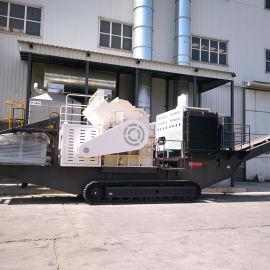 红星机器车载移动碎石机 移动碎石破碎机 小型移动碎石机视频