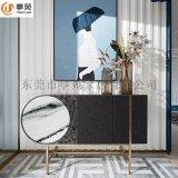 轻奢现代实木烤漆玄关柜创意客厅装饰柜定制餐边柜