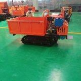 可定制自卸式履带运输车 手扶式果园山地运输车