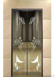 304不锈钢局部镜面香槟金蚀刻电梯桥厢装饰板