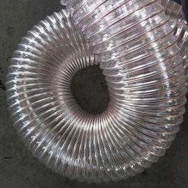 Pu钢丝吸尘通风排气管 耐高低温 抽锯末钢丝管