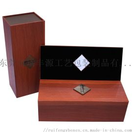 单支装红酒盒,特种纸充皮纸,商务礼品酒盒