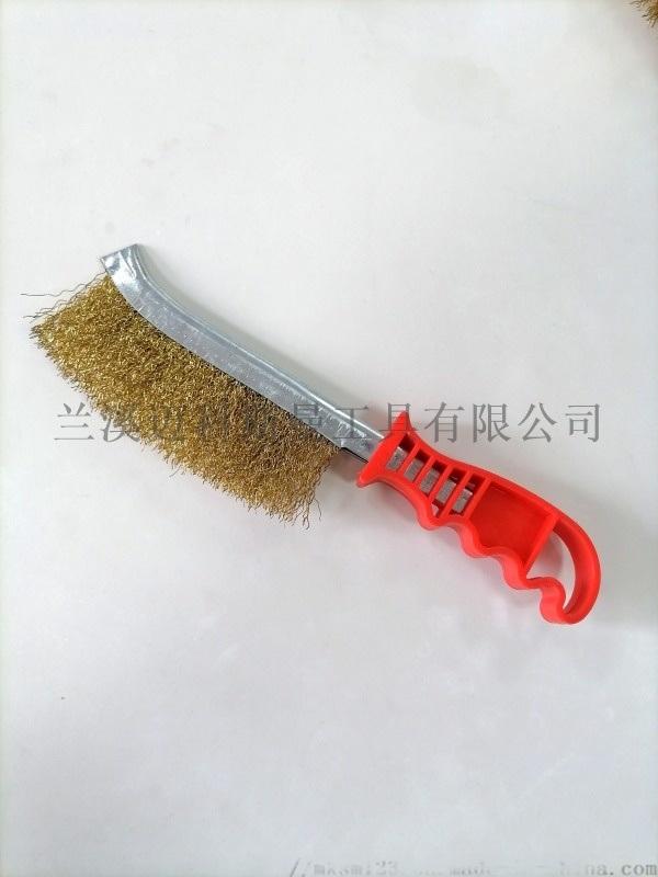 刀型钢丝刷(镀铜丝钢丝刷)
