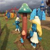清遠玻璃鋼仿真蘑菇雕塑、玻璃鋼蘑菇屋景觀雕塑
