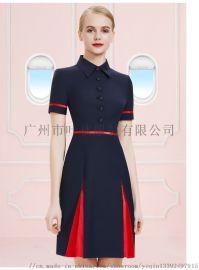 广州白云机场航空空姐制服职业套装 气质空乘工作服