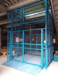 中山三角镇工厂载货电梯 导轨液压升降货梯定做