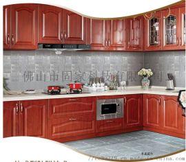 不锈钢整体橱柜 304洗菜碗灶台柜餐边柜厂家定制