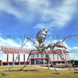 城市不锈钢雕塑大蜘蛛,艺术水上大件雕塑摆件