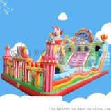 新款儿童充气大滑梯蹦床在江苏泰州有很多款式出自百美
