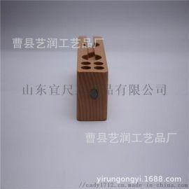 桌面笔筒手机支架 创意式榉木多功能笔筒