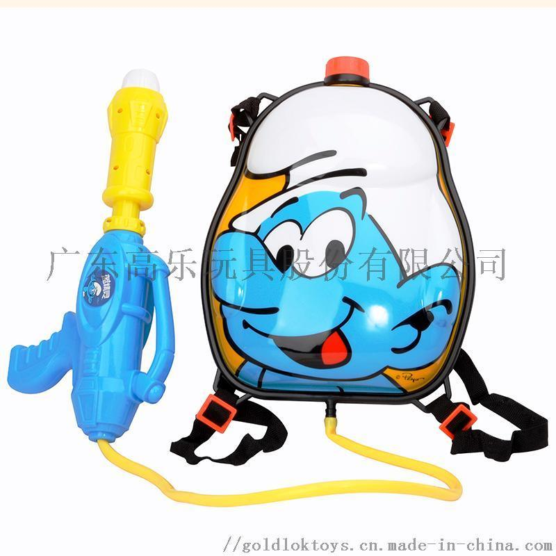 抽拉式大容量滋水枪 小孩喷呲水戏水儿童背包水枪玩具
