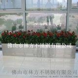 户外摆设工艺品 玫瑰金不锈钢花盆 摆设公园小区花盆