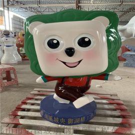 深圳玻璃鋼卡通動漫雕塑 商場主題玻璃鋼卡通公仔雕塑