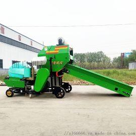 全自动青储打包机,青储饲料圆捆机,玉米秸秆捆草机