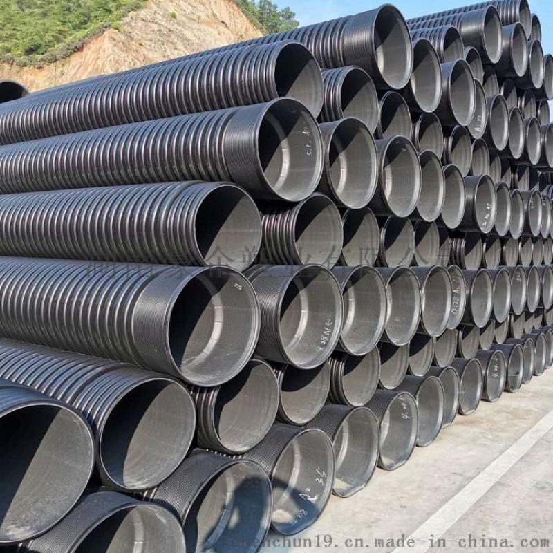 湖南长沙HDPE双壁波纹管排污管塑料连接步骤管