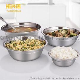 304不锈钢汤盆无磁汤盘12cm-30cm小盆
