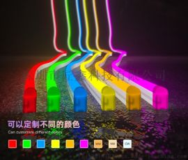 造型字柔性硅胶霓虹灯带低压户外防水灯条亮化工程