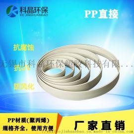 PP直接风管连接套环耐腐蚀抱箍直通接头承插口