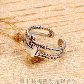 925純銀復古泰銀戒指女
