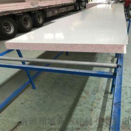厂家供应不老泡彩钢板 高硬度红色不老泡沫真金净化板