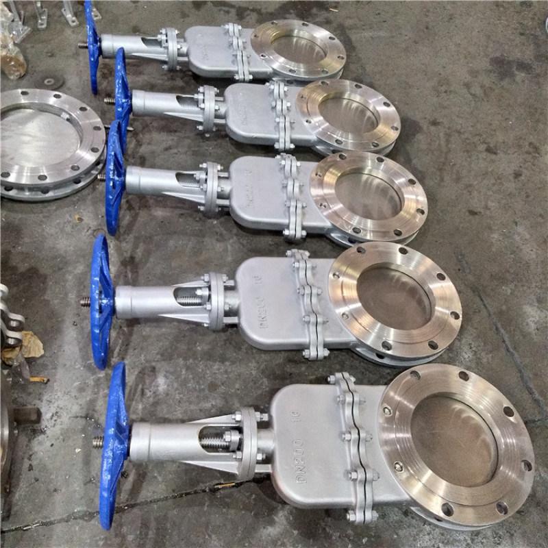 DMZ73F-10P带盖阀304刀闸阀闸板阀