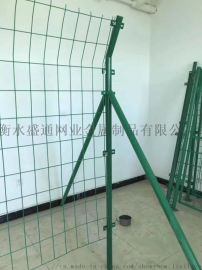 框架防护铁丝网工地施工围栏常用绿  片浸塑低碳钢丝护栏网