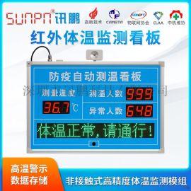 人体温度红外感应器测温显示屏LED电子看板**监控