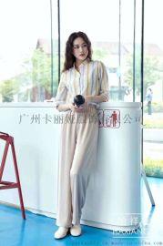 广州品牌折扣女装修身显瘦时尚百搭系宽T恤尾货批发