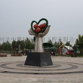 不锈钢草莓雕塑 广场草莓雕塑  草莓雕塑