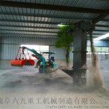 药粉输送机 大型勾机视频表演 六九重工 种树专用植