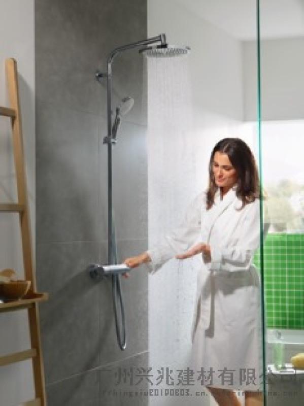 汉斯格雅 柯洛美达 S 淋浴管带恒温淋浴龙头