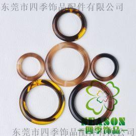 厂家直销树脂D字扣 树脂圆环扣 树脂泳装扣