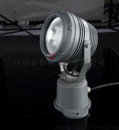 户外七彩聚光灯,防水远射距离照明射灯,工程款投光灯
