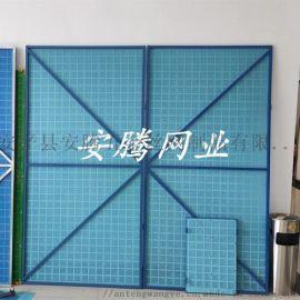 安腾爬架网 蓝色黄色绿色建筑防护冲孔网片 爬架网片