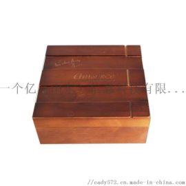 化妆品收纳盒 创意木质收纳盒 复古实木盒