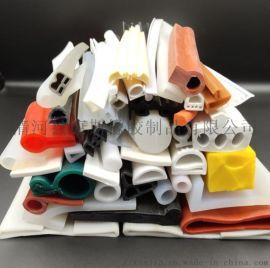 实心防水硅胶密封条 彩色耐高温硅胶条